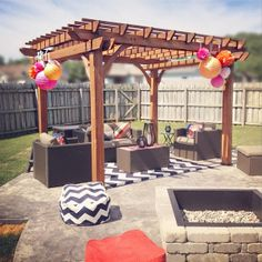 Personalized Celebration for the High School Graduate: Using fabric furniture for party seating