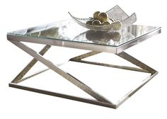 Features:  -Metro modern design.  -Square table.  -Tempered beveled glass top…