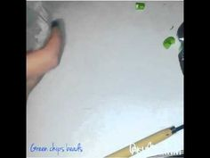 Polymer clay tutorial | green chips beads - YouTube