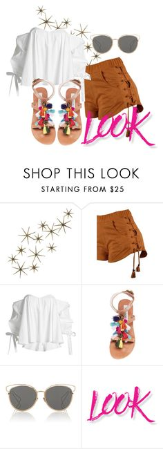 """xx"" by pauloskompanieros on Polyvore featuring Global Views, Caroline Constas, Steve Madden, Christian Dior and NYX"
