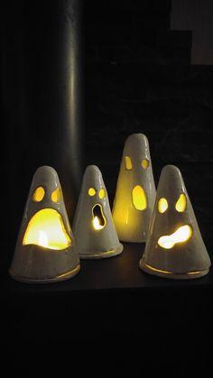 Töpfern, Geister, Halloween,...