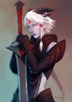 Qunari Inquisitor by StellarStateLogic on DeviantArt