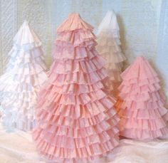 Make Crepe Paper Christmas Trees
