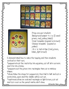 This pizza craft is intended to reinforce the fraction vocabulary of fourths and quarters. CCSS aligned. CCSS.Math.Content.1.G.A.3 Partition circles and rectangles into two and four equal shares, describe the shares using the words halves, fourths, and quarters, and use the phrases half of, fourth of, and quarter