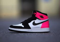 Air Jordan 1 GG Black Pink Valentine's Day 2017
