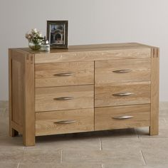 The Alto Natural Solid Oak Six-Drawer Wide Dresser is a marvelous storage solution from the contemporary Alto collection.
