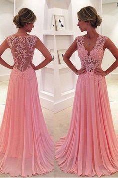 Prom Dresses 2018 #PromDresses2018, Pink Prom Dresses #PinkPromDresses