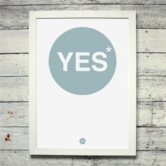 Yes* (*No) Poster - My Simple Design