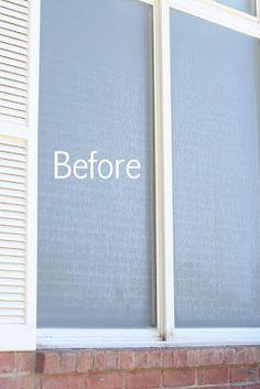 remove hard water spots off windows