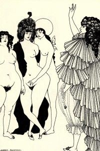 'Lysistrata Haranguing the Athenian Women, by Aubrey Beardsley.  Follow the link attached to this image and check out a feminist reading of Aristophanes' 'Lysistrata'.  Be sure to 'like', share and leave a comment.