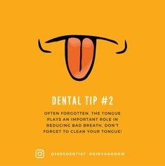 While teeth are important, don't forget about the tongue! 1800dentist.com #DentalHealthTips