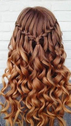 10 Pretty Waterfall French Braid Hairstyles Down Hairstyles For Loose Waterfall Braid For Summer Hair Inspiration Braid Braided 15 Best Long Wavy Hairstyles Pop Down Hairstyles For Long Hair, French Braid Hairstyles, Easy Hairstyles, Wedding Hairstyles, Hairstyles 2018, Dance Hairstyles, Amazing Hairstyles, Hairstyle Ideas, Semi Formal Hairstyles