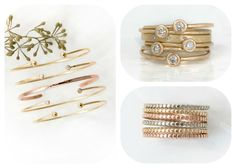 Melanie Casey Delicate Fine Jewelry - Stacking Rings and Stacking Bracelets with Diamonds