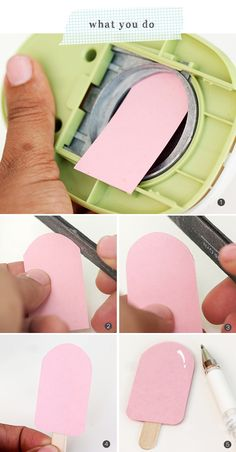Design Inspired: Paper Punch Popsicles