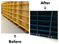 Hakunilan kirjasto | Sisustussuunnittelu minna #sisustusminna #sisustussuunnitteluminna #kierrätyssisustus #sisustakierrättämällä #recycling #library