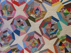 Great Spiderweb Quilt...Overcame fullness in the machine quilting...