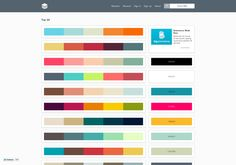Color palette website called PLTTS shows palettes to choose from with HEX codes http://pltts.me via @url2pin
