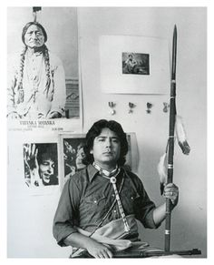 """Native American Artist Tommy (T.) Cannon was born in Lawton, Oklahoma, to a Kiowa father and a Caddo mother. He was given the name Pai-doung-u-day, which translates into """"One Who Stands In The Sun,"""" Native American Artwork, Native American Artists, American Indian Art, American Indians, Artist Birthday, Indian People, Native Art, First Nations, Traditional Art"""