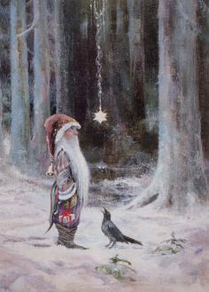 Father Christmas, star, crow, all of the elements...Sussi Anna Aberg