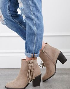 Love my fringe booties , super cute