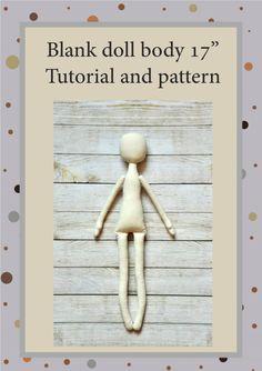 PDF Cloth Doll Pattern 17 PDF Sewing TutorialSoft by NilaDolss
