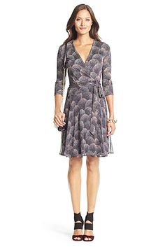 Irina Silk Combo Wrap Dress In Spray Dots Multi