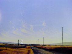 Family Trees - Gimmerburn Rd by Grahame Sydney for Sale - New Zealand Art Prints