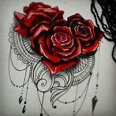 Bildergebnis für Lace Rose Tattoo