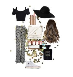 """""""Perfect In Palazzo"""" by jessicawednesday on Polyvore featuring Topshop, Boohoo, Converse, Tory Burch, Monki, Charlotte Tilbury and Chanel"""