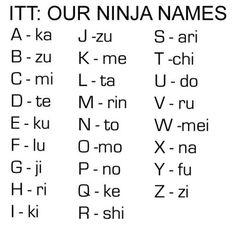 Haha Ninja Names