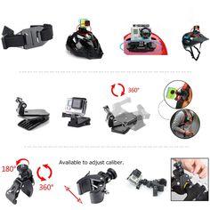 Zookki Essenziale Kit di Accessori per GoPro Hero 4 3+ 3 2 1 Nero Argento, Accessorio per SJ4000 SJ5000 SJ6000: Amazon.it: Elettronica