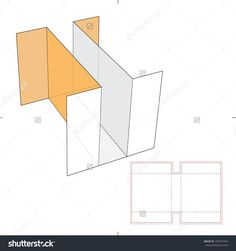 Cardboard Divider With Die Cut Layout Stock Vector Illustration 193072994 : Shutterstock