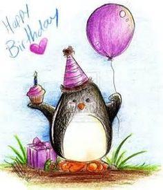 feliz aniversário pinguim
