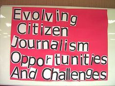 The Rise of Citizen Journalism