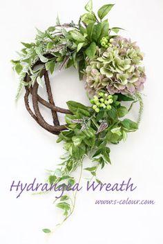 Flower Design & Artificial Flower - S-colour Spring Door Wreaths, Autumn Wreaths, Christmas Wreaths, Hydrangea Wreath, Floral Wreath, Nature Decor, Flower Images, Diy Wreath, Artificial Flowers