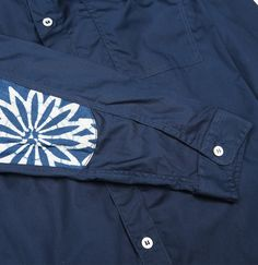 Bluesville / Navy Poplin Dyer's Batik Kerang Geo Shirt - Natural Indigo / Easy Styled Garments