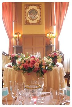 Sweetheart Table designed with Roses.