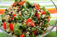 Quinoa Salad with Black Beans, Corn, and Tomatoes