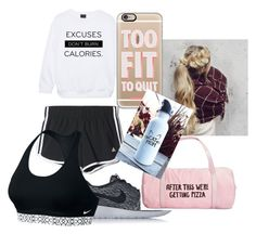 """""""Gym Outfit"""" by chaoticstars ❤ liked on Polyvore featuring NIKE, ban.do, adidas and Casetify"""