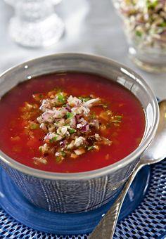Tomaattikeitto ja fetahöystö   K-ruoka