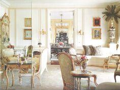 San Francisco apartment Salon. Interior Design by Ann Getty, Architect Thomas Kligerman. Image from California Homes