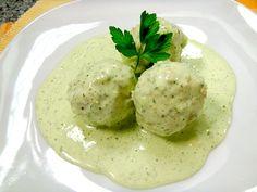 Boulettes de poulet sauce crémeuse à la coriandre - Albondigas de pollo en salsa de cilantro