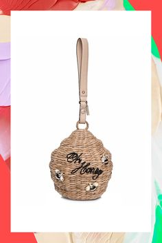 Bee mine, beautiful beehive bag.Kate Spade Down The Rabbit Hole Wicker Beehive Bag, £325 #refinery29 http://www.refinery29.uk/fun-fashion-accessories-spring-2016#slide-8