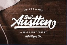 [Ad] Austten script by Wacaksara Co. on @creativemarket for $16 - https://crmrkt.com/2jkak (20% OFF)