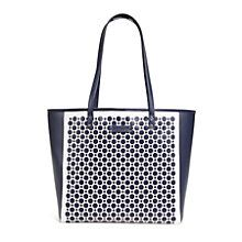 Laser-Cut Tote in Yellow and White Geo | Vera Bradley