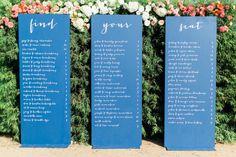 Современный Морской Синий Свадебный Эскорт Вывесок Карту