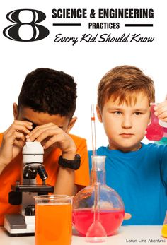 Looking to plan for scientific ideas and concepts? Don't know where to start? 8 Basic science and engineering practices that every child should know!