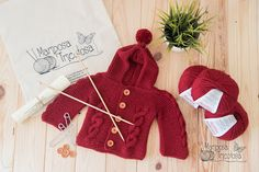 kit abrigo con capucha y ochos para bebé