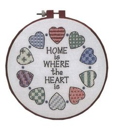 Dimensions Learn-A-Craft Home And Heart Stamped Cross Stitch Kit-6''x6''