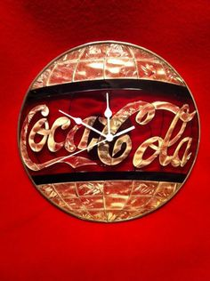 Vintage Stained Glass Coca-Cola Clock